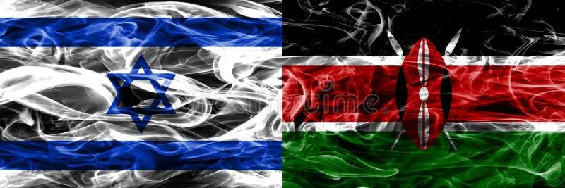 L'Israël contre des drapeaux de fumée du Kenya placés côte à côte Israélien et Ken illustration stock