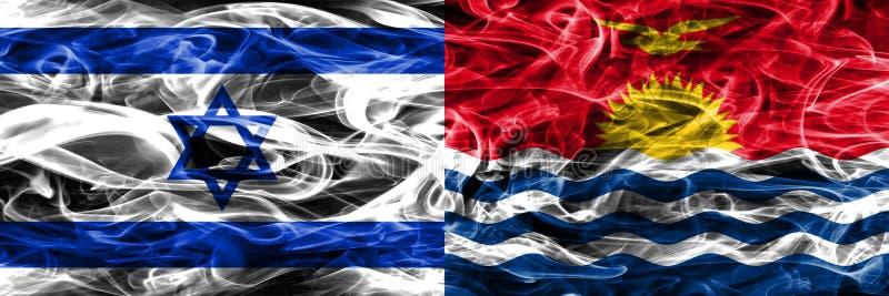 L'Israël contre des drapeaux de fumée du Kiribati placés côte à côte Israélien et illustration stock