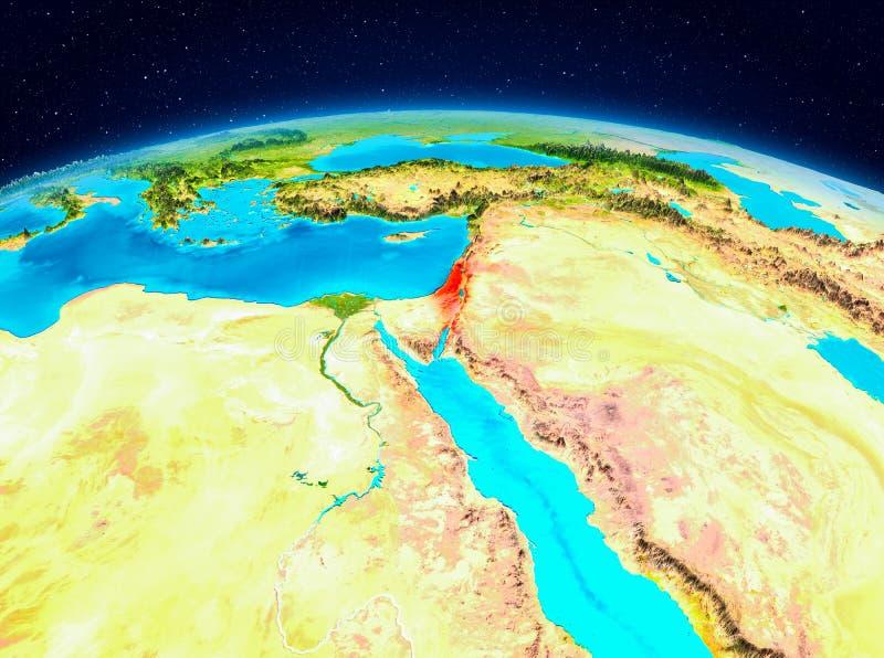 L'Israël de l'orbite illustration libre de droits