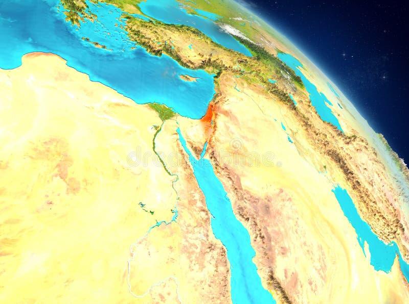 L'Israël de l'orbite illustration de vecteur
