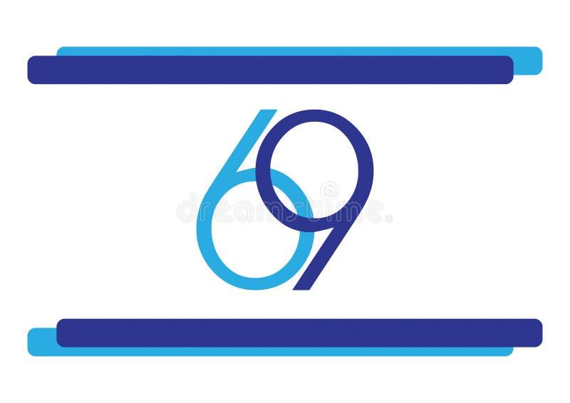 L'Israël drapeau de 69 Jours de la Déclaration d'Indépendance images libres de droits