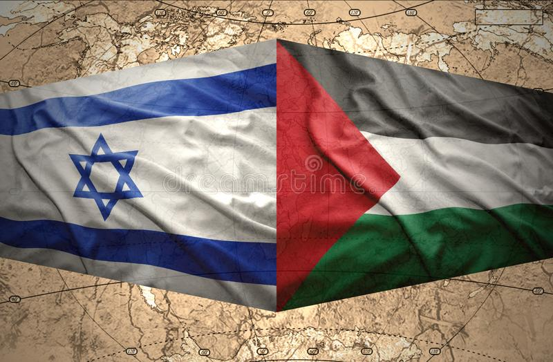 L'Israël et la Palestine illustration de vecteur