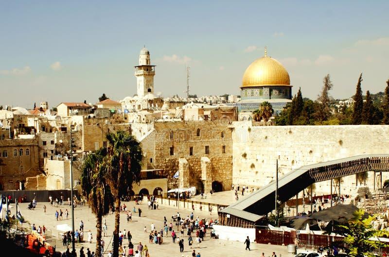 l'Israël Jérusalem 20 août 2014 : Mosquée de la roche à Jérusalem photos libres de droits