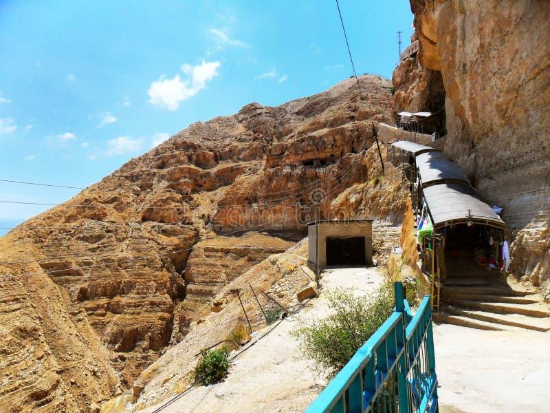 L'Israël, Moyen-Orient, Jéricho, bâti de tentation image stock