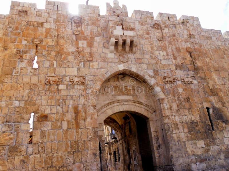 L'Israël, Moyen-Orient, Jérusalem, porte de ` de lions, vieille ville photos libres de droits