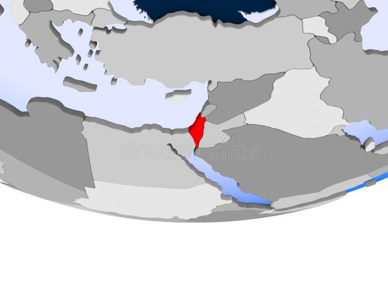 L'Israël sur le globe illustration de vecteur