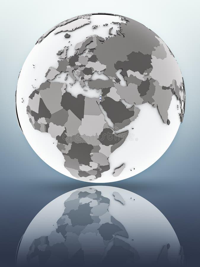 L'Israël sur le globe illustration libre de droits