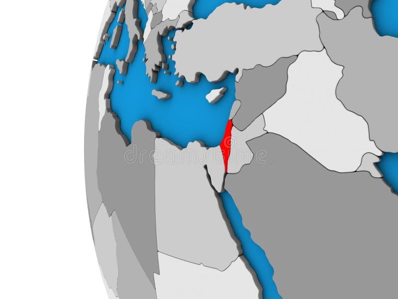 L'Israël sur le globe 3D illustration de vecteur