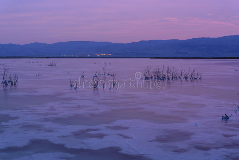 l'israel Mer morte sel de cristaux images stock