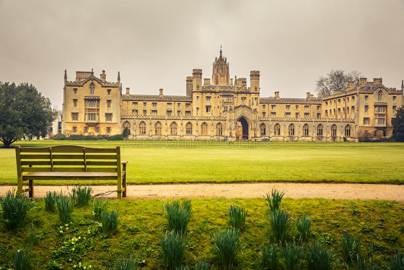 L'istituto universitario di St John, Cambridge immagini stock