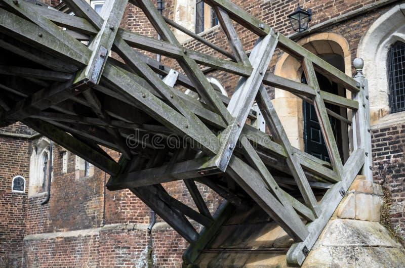L'istituto universitario matematico Cambridge del Queens e del ponte immagini stock libere da diritti