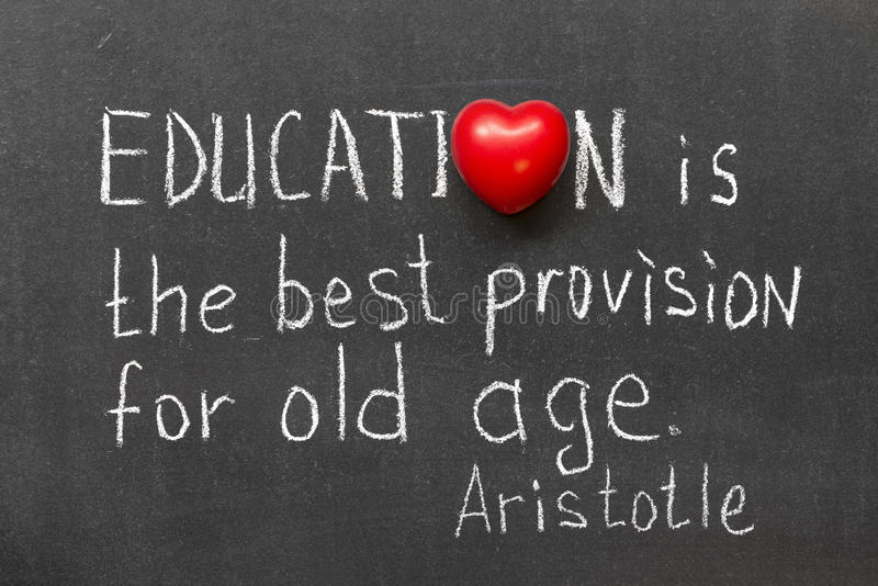 L'istruzione è immagine stock