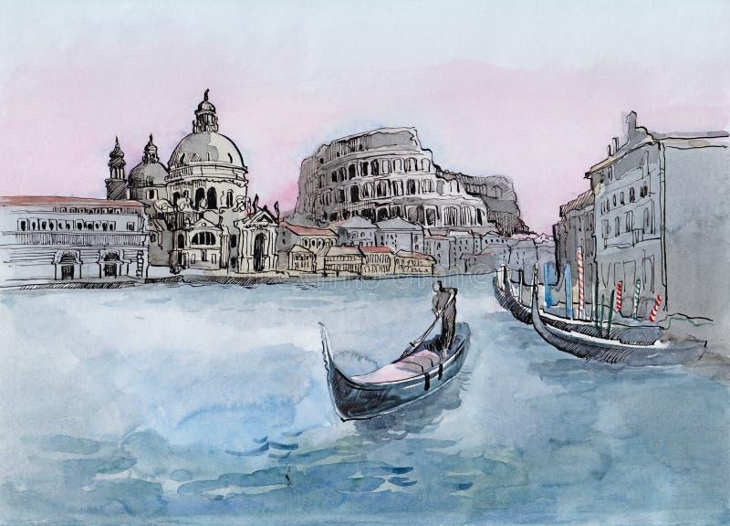 L'Italia illustrazione vettoriale