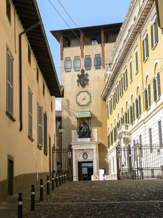 L'Italia Bergamo CittàAlta immagine stock