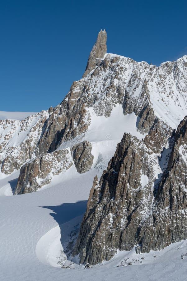 L'Italia, Courmayeur, gamma di Mont Blanc immagine stock libera da diritti