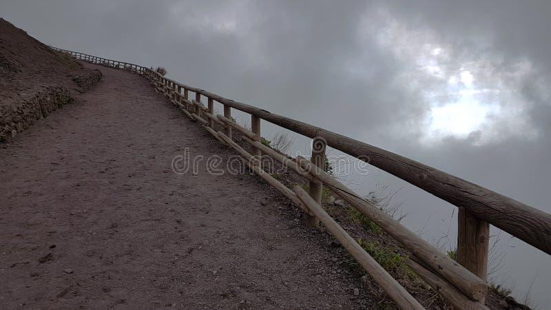 L'Italia del sud, sulla cima del Vesuviu - paesaggio fotografia stock