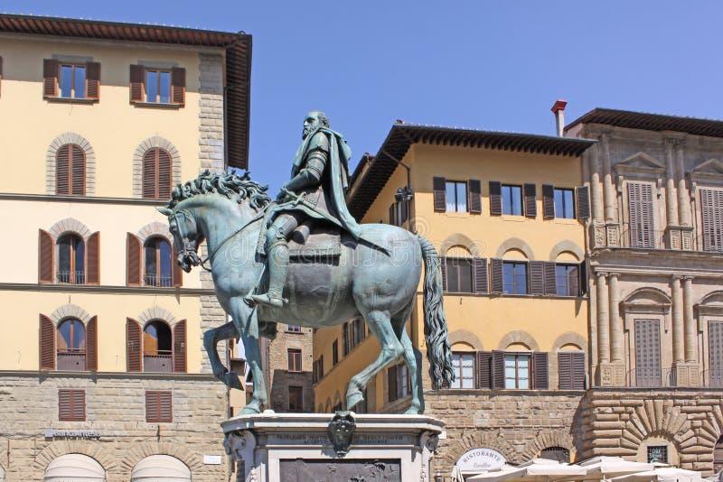 L'Italia Firenze Statua equestre di Cosimo I de 'Medici, granduca della Toscana immagini stock