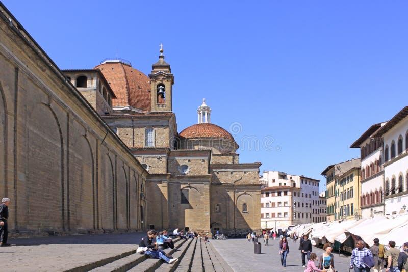 L'Italia Firenze Veiw delle vie fotografia stock libera da diritti