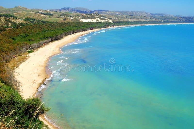 L'Italia - la Sicilia classiche, litorale a Eraclea fotografie stock libere da diritti