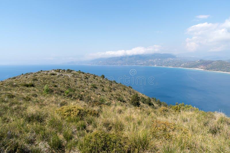 L'Italia, parco nazionale di Cilento, capo Palinuro fotografie stock libere da diritti