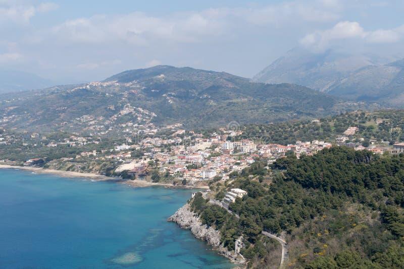 L'Italia, parco nazionale di Cilento, capo Palinuro immagini stock