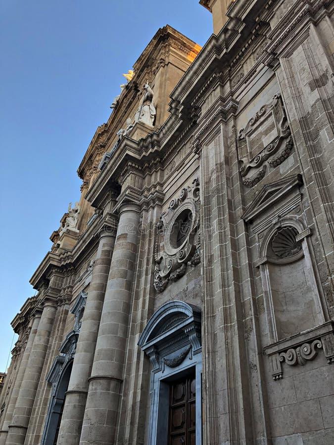 L'Italia, Sicilia: Dettaglio della chiesa di madre della Marsala immagine stock