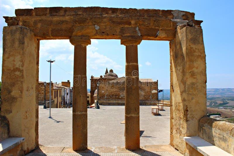 L'Italia, Sicilia: Rovine di Sambuca immagine stock libera da diritti