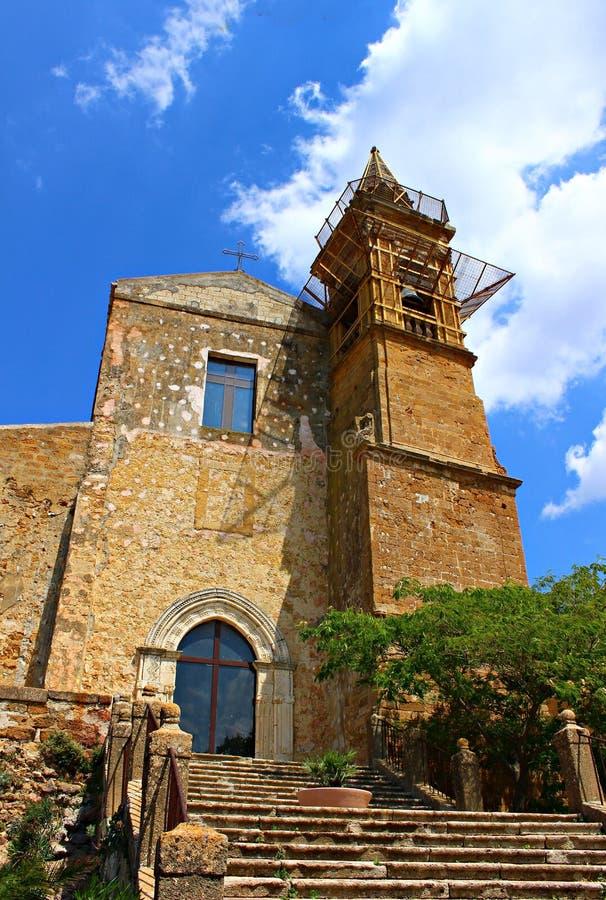 L'Italia, Sicilia, Sambuca: Chiesa di madre fotografia stock
