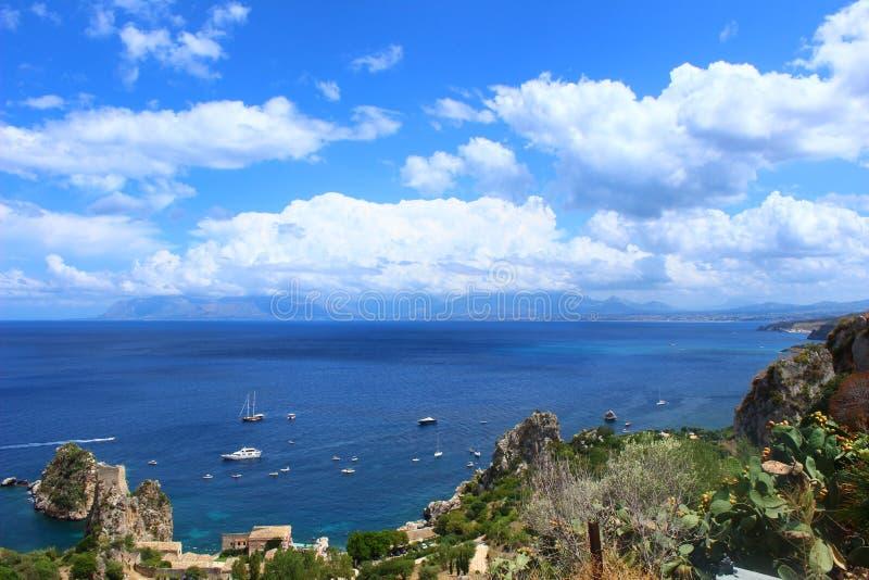 L'Italia, Sicilia, Trapani: Baia di Scopello fotografia stock