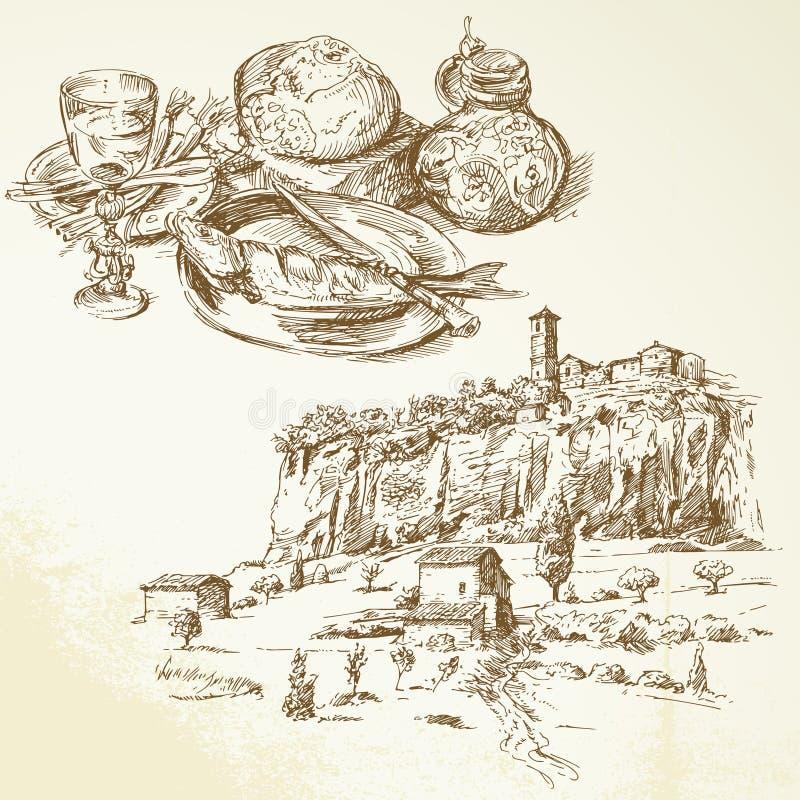 L'Italia, Toscana royalty illustrazione gratis