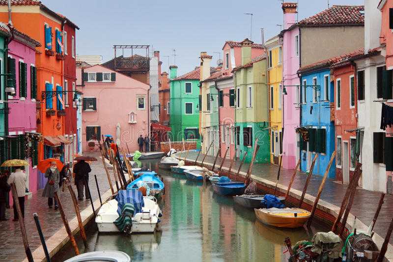 L'Italia, Venezia: Isola di Burano fotografia stock