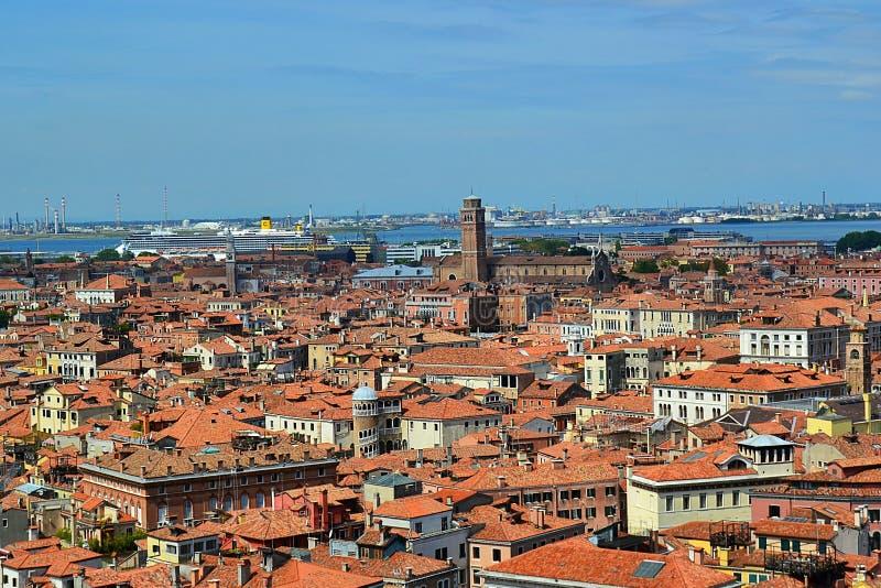 L'Italia, Italia, Venezia, mare adriatico, San Marco, vista aerea fotografia stock