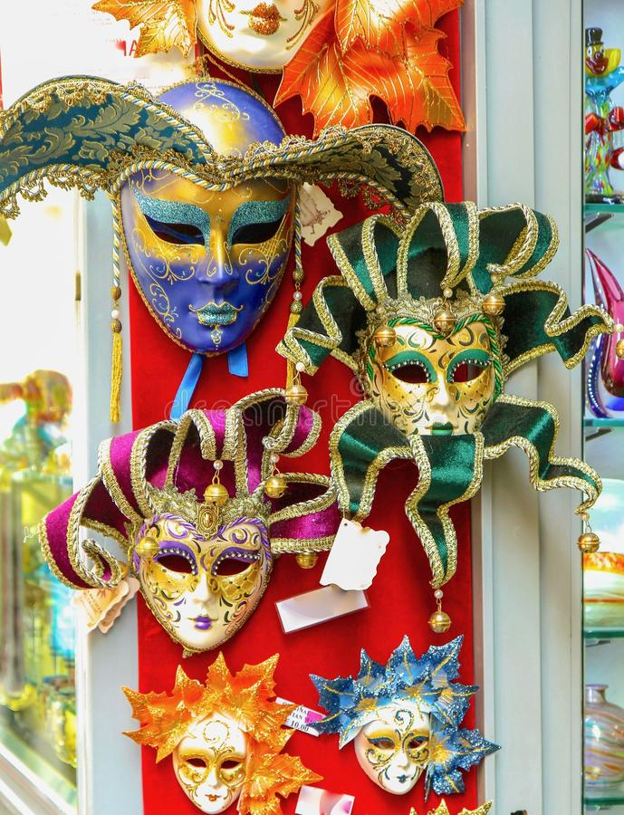L'italiano maschera il carnevale a Roma immagini stock libere da diritti