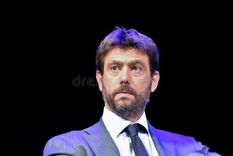 L'Italie - l'Andrea Agnelli photo stock