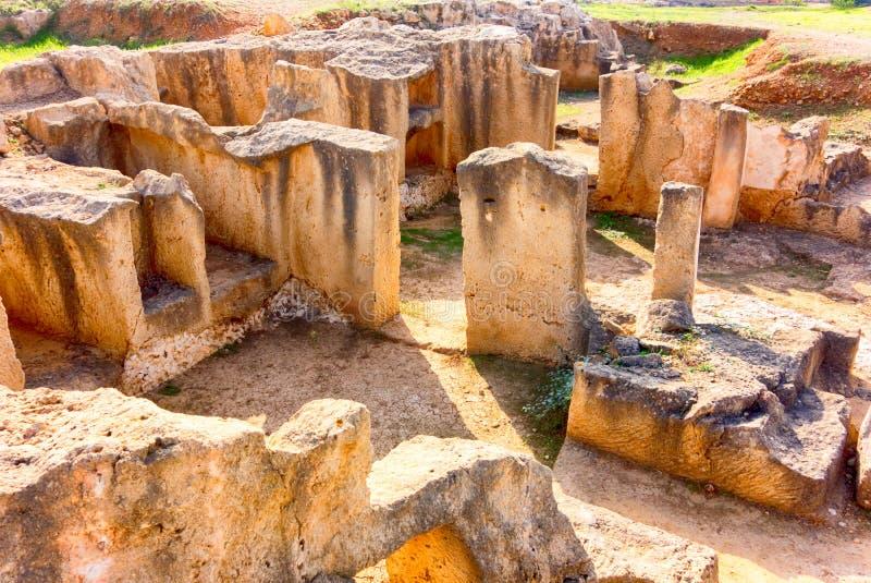 l'Italie antique Pompeii ruine la pierre image libre de droits