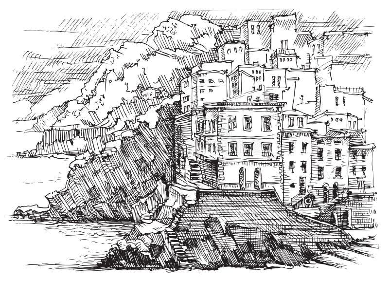 L'Italie, Cinque Terre images libres de droits