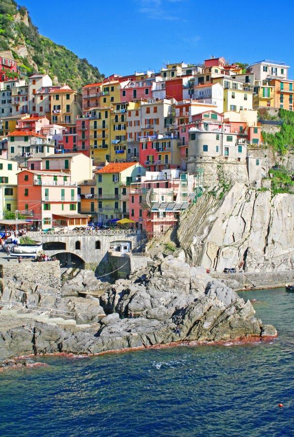 l'Italie. Cinque Terre. Manarola image libre de droits