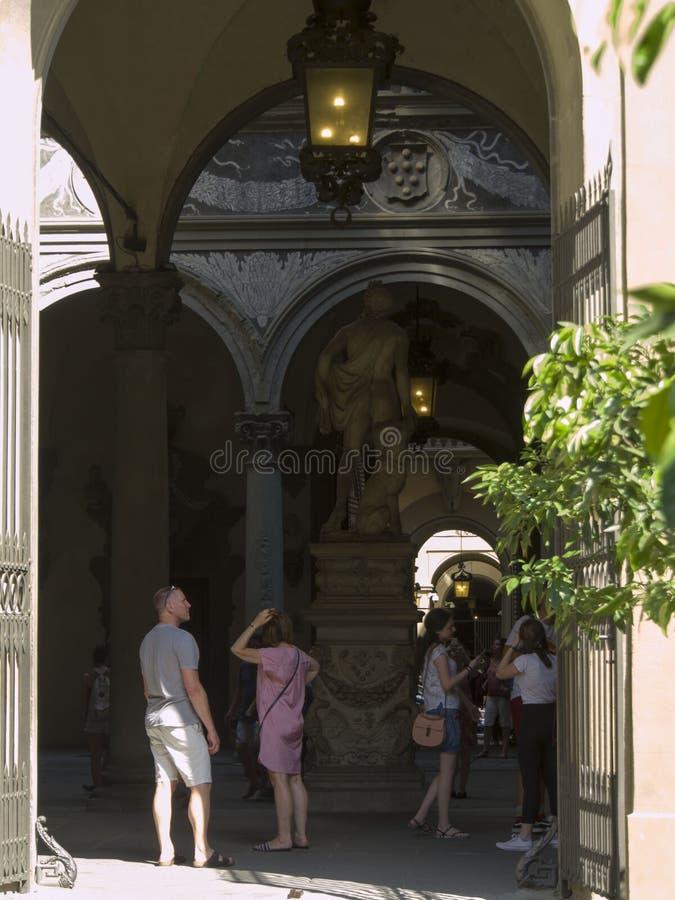 L'Italie, Florence, le palais de Medici Riccardi images stock