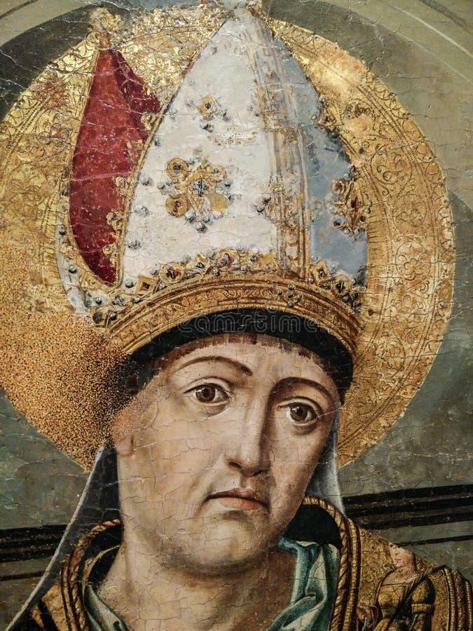 """l'Italie Héritage artistique Retablo di Sant """"Eligio un double triptyque, accomplissent le predella et le polvarolo par le maître photographie stock"""