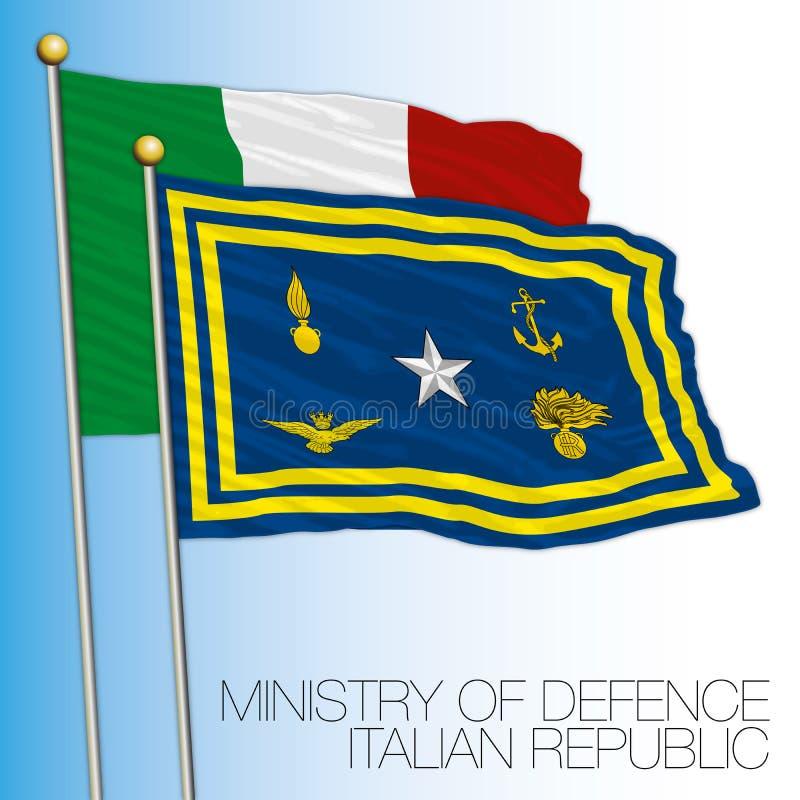 L'Italie, le ministère de la Défense le drapeau illustration libre de droits