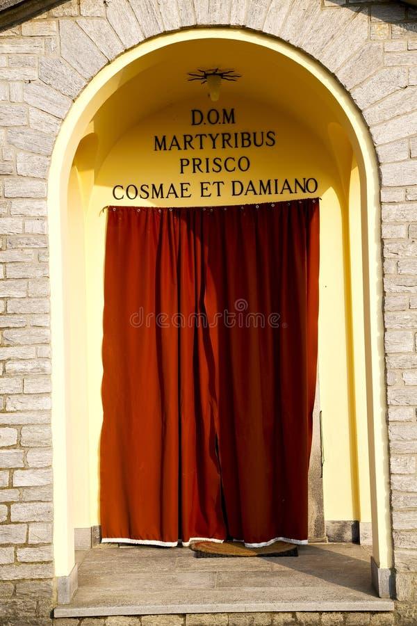 l'Italie Lombardie dans la vieille étape de brique d'église de barzola photos libres de droits