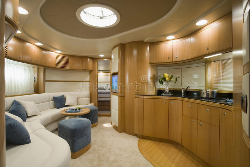 l'Italie, mer de Tirrenian, yacht de luxe de l'Aqua 54 ' image libre de droits