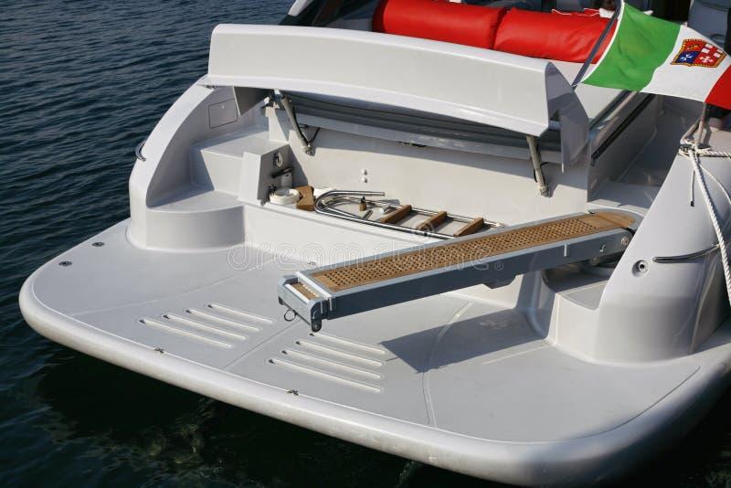 l'Italie, mer de Tirrenian, yacht de luxe de l'Aqua 54 de Baia ' photos libres de droits