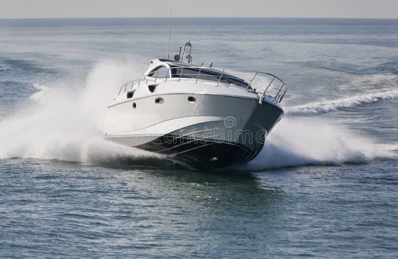 l'Italie, mer de Tirrenian, yacht de luxe Rizzardi 45 ' photo libre de droits
