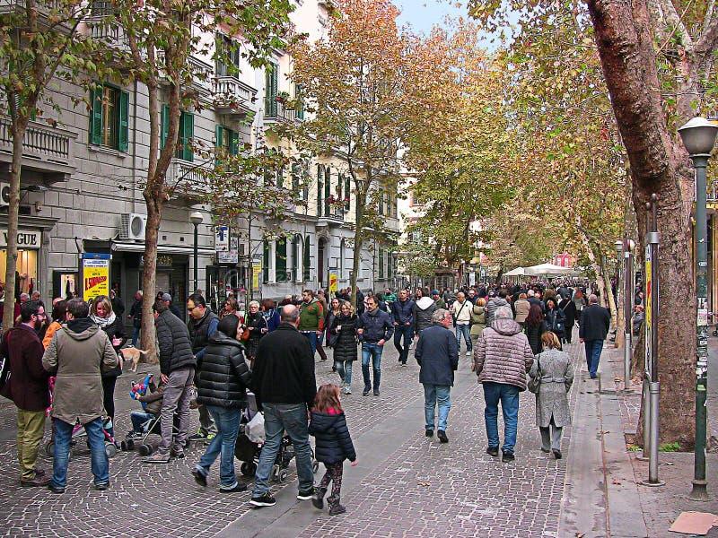 L'Italie Naples, rue de Luca Giordano, 5 images libres de droits