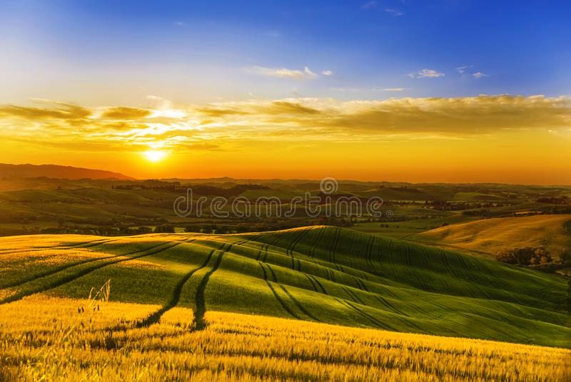 l'Italie Paysages ruraux de la Toscane photo stock