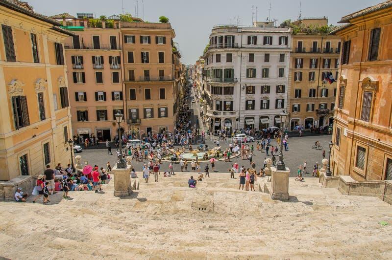 L'Italie - Rome - étapes espagnoles photos stock