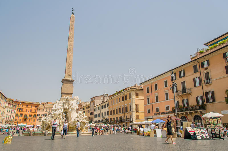 L'Italie - Rome - le Piazza Navona photos stock