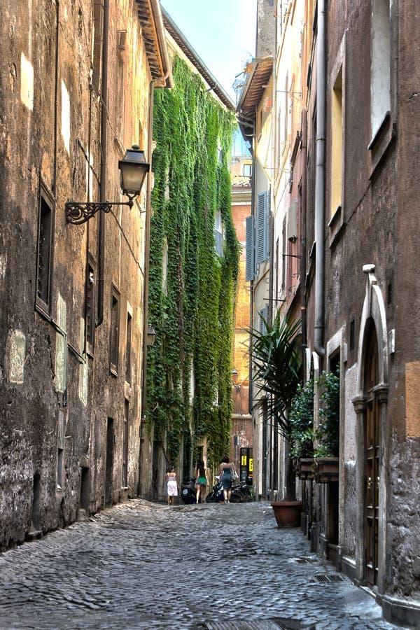 l'Italie Rues de Trastevere à Rome l'Italie image libre de droits