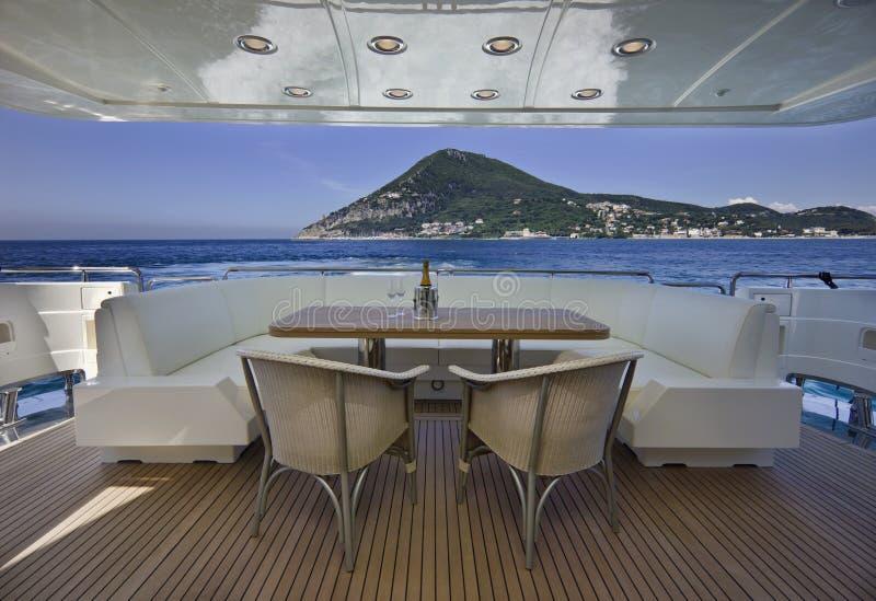 l'Italie, S.Felice Circeo (Rome), yacht de luxe image libre de droits